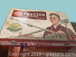 50th Anniversary Special A.C. Gilbert Erector Rocket Launcher Set