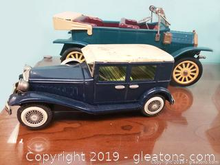 Vtg. Tin/Metal T-Model Cars