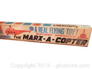 "Vtg. Battery Operated ""The Marx-A-Copter"""
