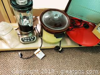 Shelf Lot Of Kitchen Appliances