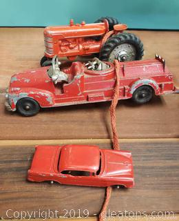 Set Of (3) Vtg Metal Toys