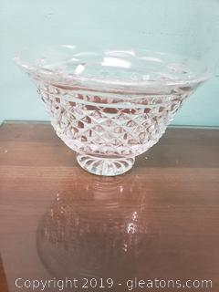 """Waterford"" Footed Bowl Candy Dish"
