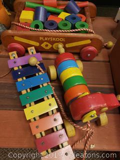 Vtg. Wooden Toys
