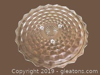 Vintage Fostoria Crystal Tri-Food Platter