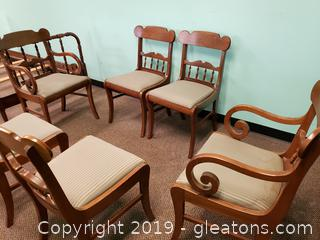 Set Of (6) Vtg Dining Chairs