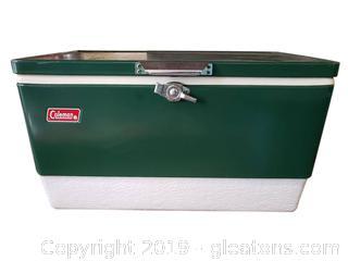 Vintage Coleman Metal Cooler