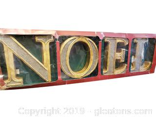 Large Wooden Decorative Noel Letters
