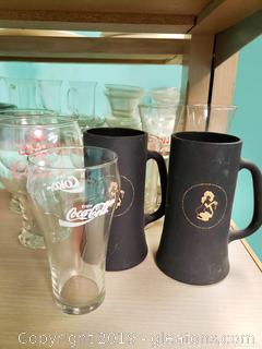 Vtg. Coors Play Boy, Coca-Cola Mug Glass Lot
