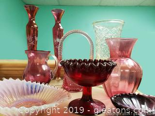Ruby Red, Mauve Glass Lot