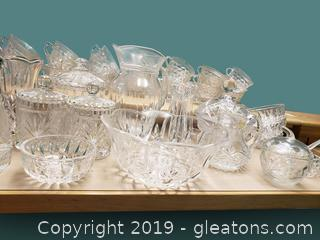 Beautiful Cut Crystal Glass Lot