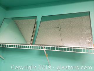 Vtg. PR. Bathroom Mirror Cabinet
