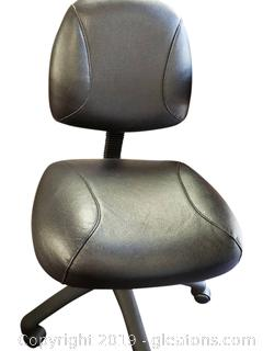 Black Armless Rolling Computer Desk Chair