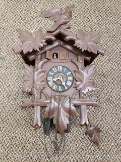 Vtg. Wooden Kuckuck Clock