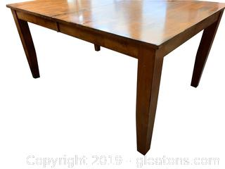Large Farmhouse Table With Hidden Popup Leaf