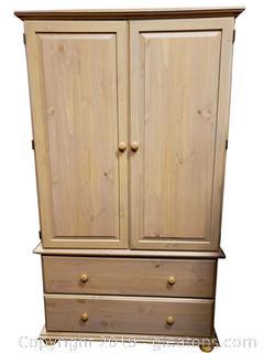 Light Color Wood Like Armoire