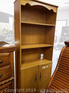 Wood Like Cabinet Book Shelf