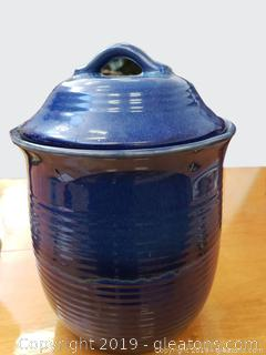"""Home"" Glazed Canister Cookie Jar"