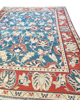 Beautiful Large Hand Woven Flat Pile Area Rug
