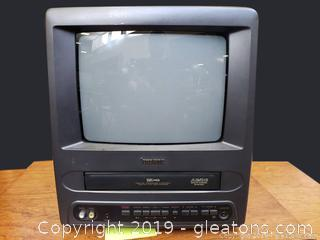 "Small 10"" Box TV/Vcr Combo T.V."