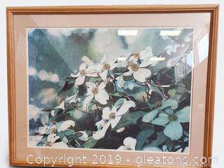 Dogwood Botanical Signed Water Color