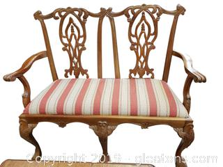 Chippendale Bench Settee Ball And Claw