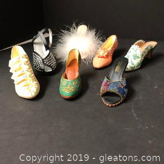 "Beautiful Design On These Mini Shoes Made By Just The Right Shoe ""Wallace Gallery"""