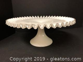 Lovely Rare Fenton Cake Server Antique High End