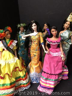 Gorgeous Barbies Of The World