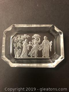 Etched Crystal Lalique Like