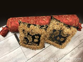 Lovely Set Of 3 Custom Made Pillows