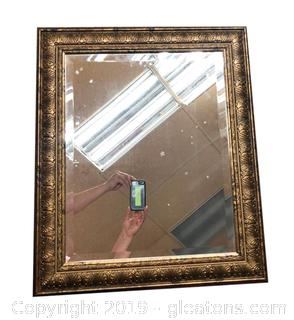 Gorgeous Framed Mirror With Beveled Glass