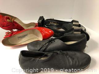 3 Pair Women's Shoes Size Approx. 8½ Or 9