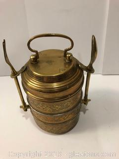 Unique Brass Middle Eastern Portable Meal Unit