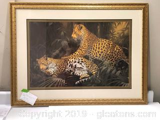 2 Leopard Animal Print Home Wall Decor