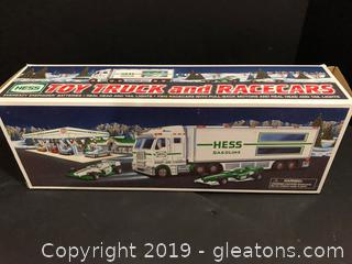 Hess Gasoline Truck And Race Cars