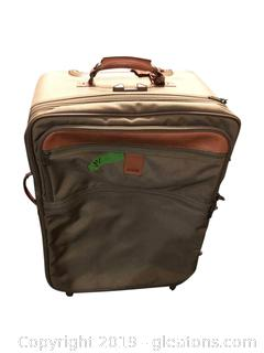 2-Piece Hartmann Luggage Leather On Nylon