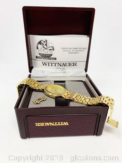Wittnauer, Gold And Diamond Wrist Watch