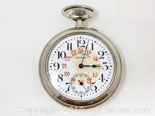 Antique Silver Doxa Pocket Watch