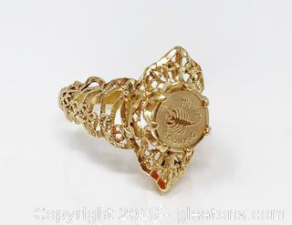 Scorpio Coin Ring