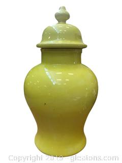 Nice Urn Handmade In italy With A Unique Color Of Yellow