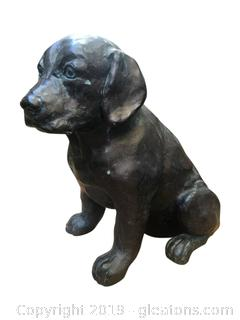 Very Heavy Cast Metal Dog Figurine