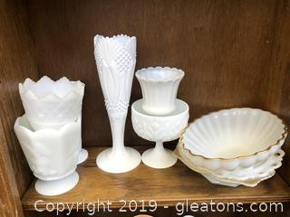 Very Sought After Milk Glass