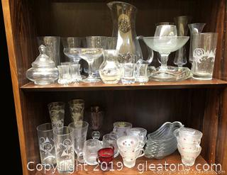 Good Mixed Variety Of Crystal And Glass