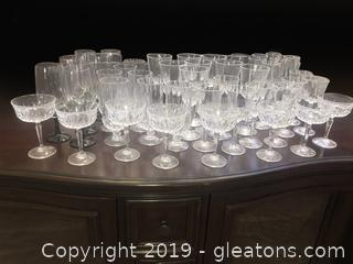 Nice Wine Glass And Crystal Lot