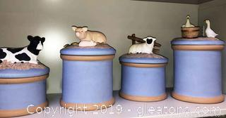 Farm House Animal Canisters