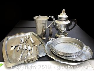 Nice Lot Of Silver Plated And Aluminum