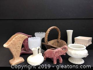 Nice Lot Of Depression Glass And Vintage Pottery