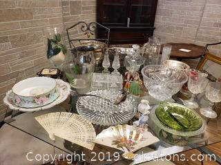 Super Large Glass Vtg. Treasure Lot