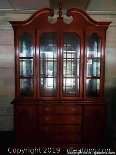 "Lovely ""Dixie"" Company Large (2) Piece China Cabinet"