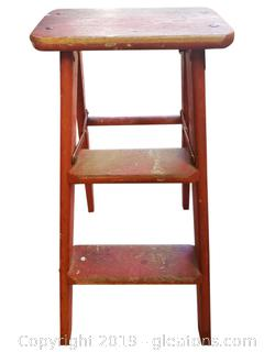 Small Red Vintage Step Ladder